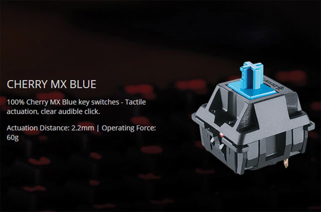 Cherry MX Blue key switches